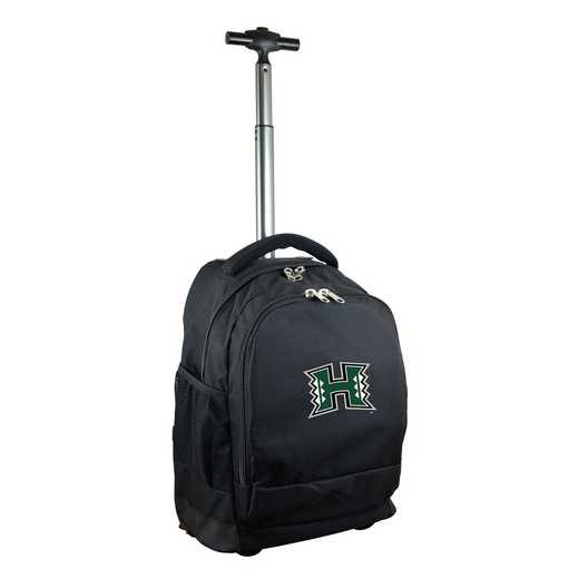 CLHIL780-BK: NCAA Hawaii Warriors Wheeled Premium Backpack